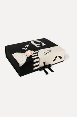 Morgan Lane - Lanie Embroidered Silk-satin Robe And Eye Mask Gift Set - Black