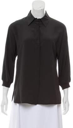 Max Mara Silk Button-Up Top