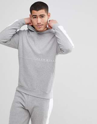Jack Wills Langley Colour Block Hoodie In Grey