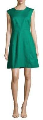 Halston Solid Cotton-Blend Dress