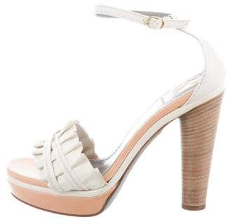 Reed Krakoff Ruffled Platform Sandals