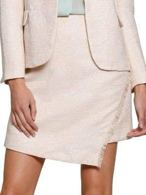 Walter Baker Fringe-Trimmed Mini Skirt