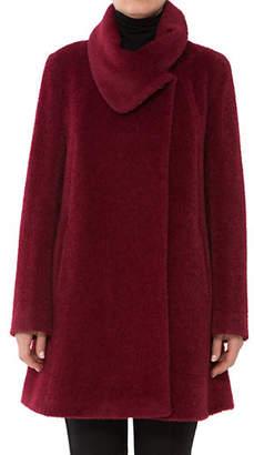 Cinzia Rocca Textured Short Wool-Blend Coat