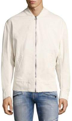 Hudson Distressed Bomber Jacket