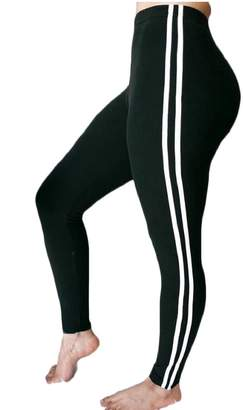 M&S&W Women's Mid Waist Striped Side Jogger Sweatpants Pant M