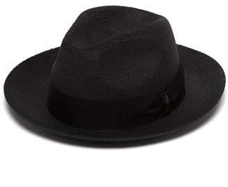 09f4d76b5a2 Borsalino Woven Hemp Panama Hat - Mens - Navy