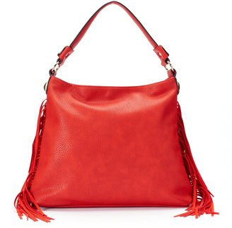 Mellow World Beatrix Slouchy Fringed Hobo $79 thestylecure.com