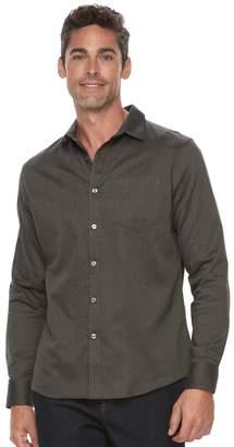 Apt. 9 Men's Slim-Fit Herringbone Stretch Button-Down Shirt