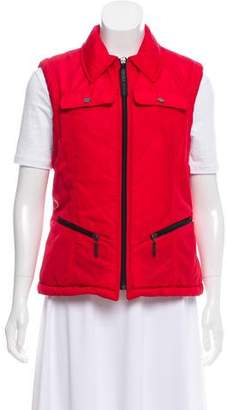 Versace Pointed Collar Puffer Vest