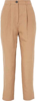 Mara Hoffman Dita Tencel And Linen-blend Straight-leg Pants - Beige