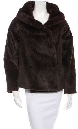 Etro Mink Paisley Print Jacket