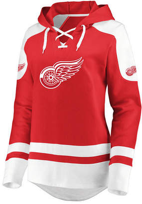 Majestic Women's Detroit Red Wings Centre Lace up Crew Sweatshirt