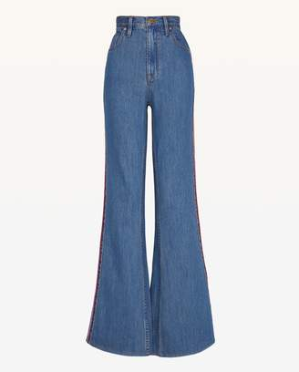Juicy Couture Multicolor Embroidered Denim Flare Leg Jean