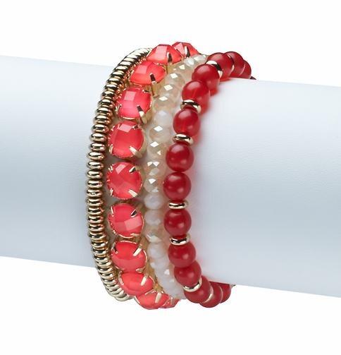 LOFT Fuchsia Stone Stretch Bracelet Bunch
