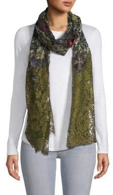 Valentino Floral & Lace Scarf