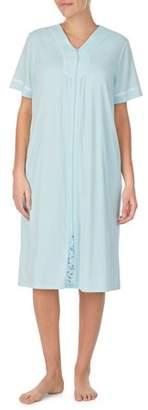 Secret Treasures Women's and Women's Plus Traditional Short Sleeve Zip Front Duster Robe