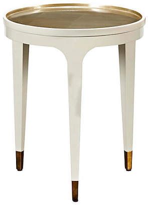 Kate Spade Thackery Side Table - Cream/Gold Leaf