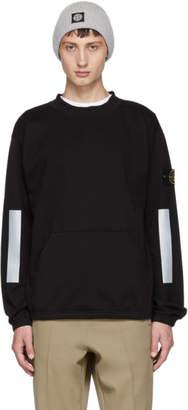 Stone Island Black Reflective Band Sweatshirt