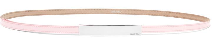 Jimmy ChooJimmy Choo Blossom patent-leather belt