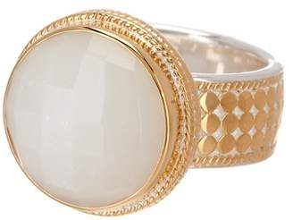 Anna Beck 18K Gold Plated Sterling Silver Moonstone Cocktail Ring