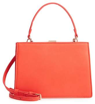 Street Level Faux Leather Frame Handbag