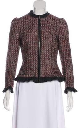 RED Valentino Tweed Zip-Up Jacket