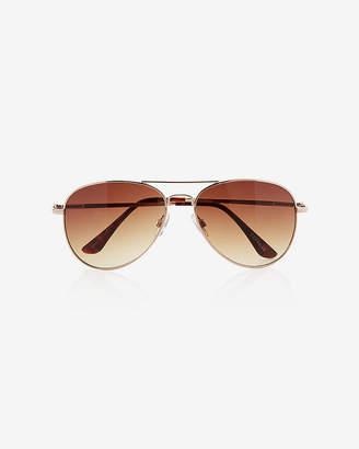 Express Gold Frame Aviator Sunglasses