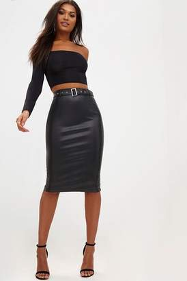 Next Womens PrettyLittleThing Belted Midi Pencil Skirt