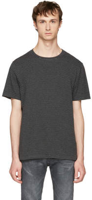 Maison Margiela Black and Grey Striped T-Shirt