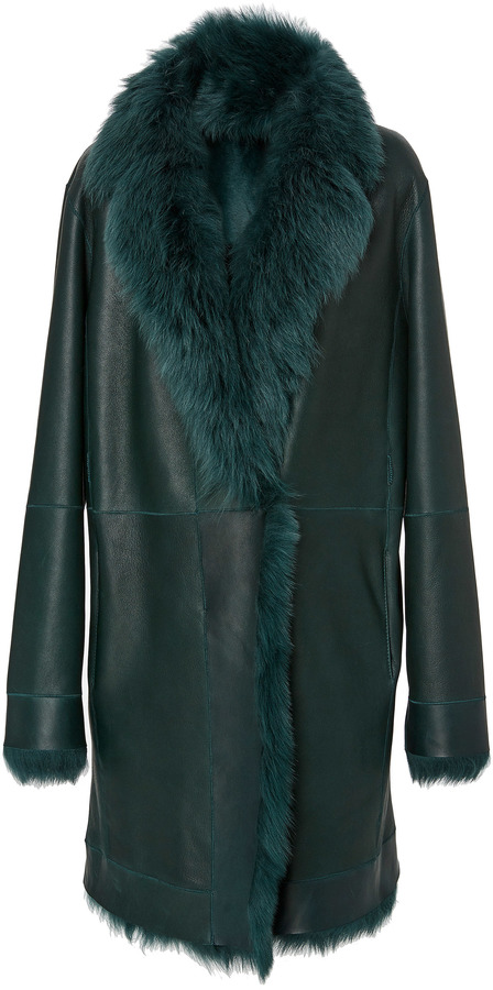 Paule KaPaule Ka Fur Lined Leather Coat