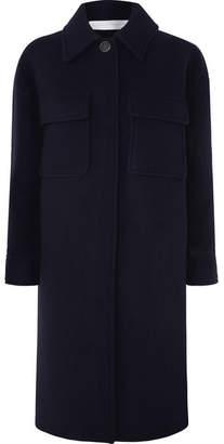 Victoria Beckham Victoria, Wool-blend Coat - Navy