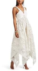 Zimmermann Women's Corsage Embellished Silk-Cotton Midi-Dress - White