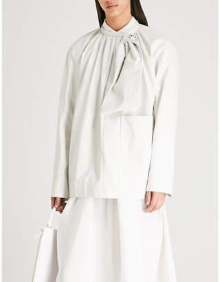 Jil Sander Bow-detail leather top