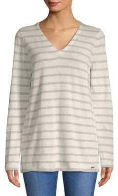 Calvin Klein Two-Tone V-Neck Sweater