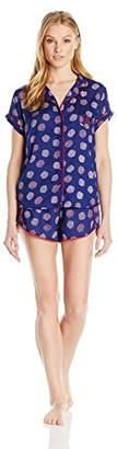 Tommy Hilfiger Women's Rayon Girlfriend Pajama Short Sleeve Top and Short Set PJ
