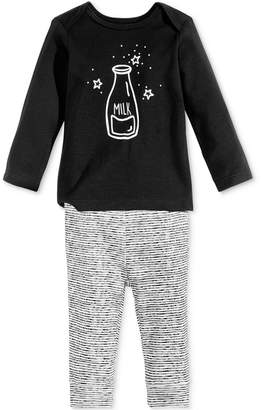 First Impressions Baby Boys & Girls 2-Pc. Milk Top & Leggings Set