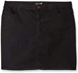 Lee Indigo Women's Plus Size Comfort Collection Denim Skirt