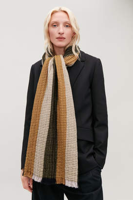 66094e98525 at COS Stores · Cos LARGE MULTI-STITCH WOOL SCARF