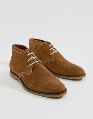7cbcaa45303f Dune Perforated Desert Boots In Tan Suede