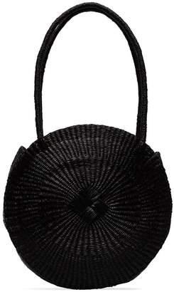 Sensi Studio black circle woven straw shoulder bag 4ba07bcbaa5cd
