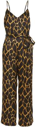 L'Agence Jaelyn Animal-Printed Silk Jumpsuit