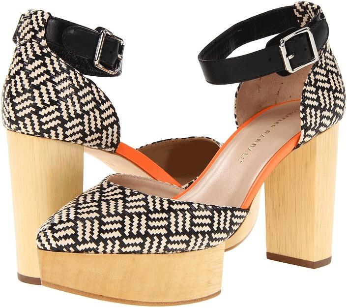 Loeffler Randall Tippi (Black Mix/Orange) - Footwear