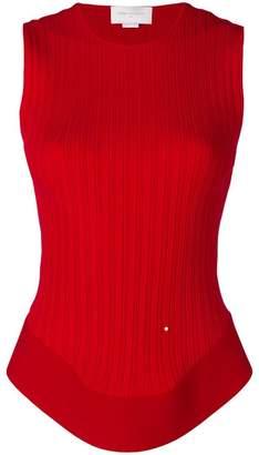 Esteban Cortazar open back corset knit top