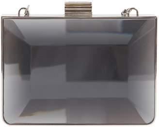 Salvatore Ferragamo Silver Metal Clutch Bag