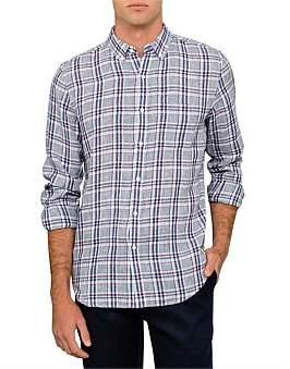 David Jones Linen Check Shirt