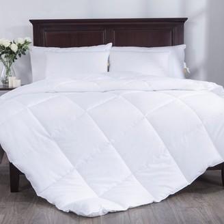 Pure Down Puredown All Season White Down Alternative Comforter Duvet Insert, Peach Skin Fabric