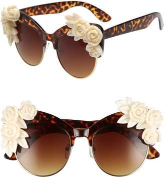 Cat Eye RAD AND REFINED Rad + Refined Flower Sunglasses