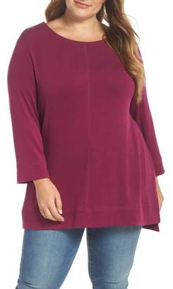 Caslon Three Quarter Sleeve Modal Blend Knit Top