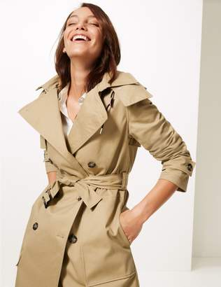 Marks and Spencer Cotton Rich Trench Coat