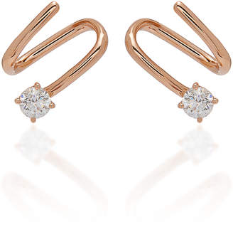 Anita Ko 18K Gold And Diamond Coil Earrings